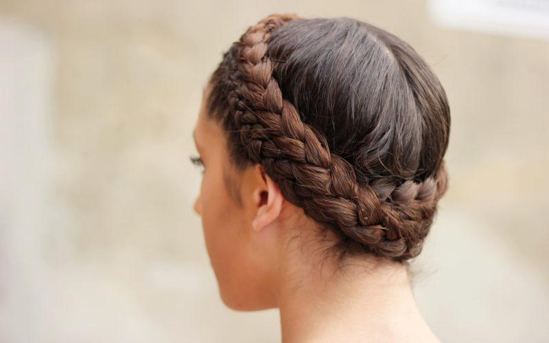 Teen with braided hair